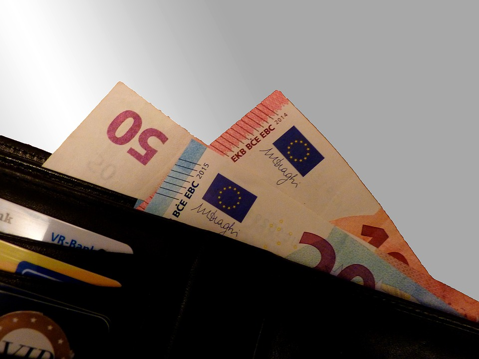 eura v portmonce